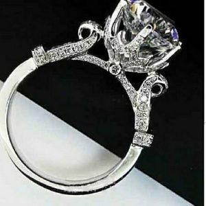 Jewelry - Sterling silver 4 carat sona ring